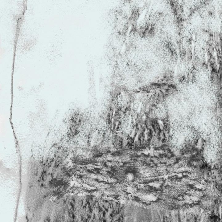 Zeichnung im Blauton